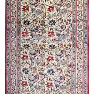 Antique Persian Qum Carpet 144x128cm