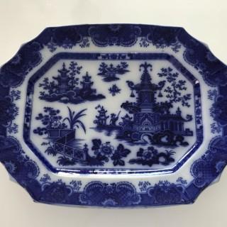Staffordshire Flow Blue Platter