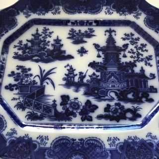 Staffordshire Flow Blue Platter