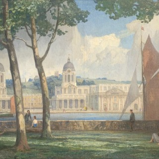 The Royal Hospital at Greenwich from the Isle of Dogs