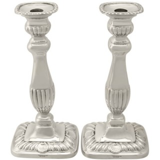 Sterling Silver Candlesticks - Regency Style - Vintage George VI
