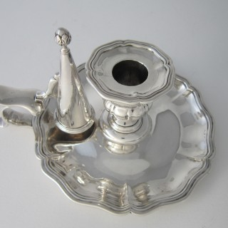 Antique George IV Sterling silver chamberstick