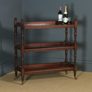 Antique English Victorian Mahogany Dumbwaiter / Buffet Server / Sideboard by Oetzmann & Co. (Circa 1880)