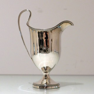 Antique George III Sterling Silver Cream Jug London 1782 Walter Brind