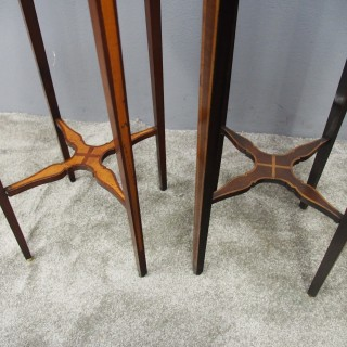 Matched Pair of George III Inlaid Stands