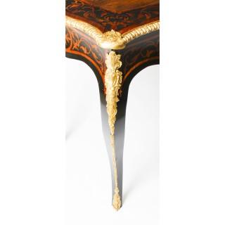 Antique Burr Walnut & Ormolu Mounted Bureau Plat Writing Table Desk 19th century
