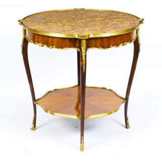 Antique Louis Revival Marble & Ormolu Mounted Occasional Table 19th C