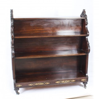 Antique William IV Double Sided Waterfall Open Bookcase C1835 19th C