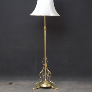 Late Victorian Floor Lamp