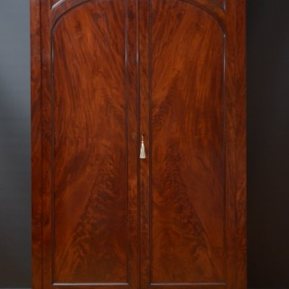 Superb William IV Mahogany Wardrobe