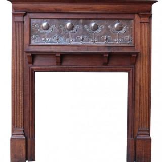 An English Art Nouveau Style Fireplace