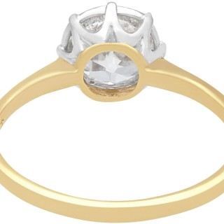 0.97 ct Diamond and 18 ct Yellow Gold Solitaire Ring - Antique Circa 1920