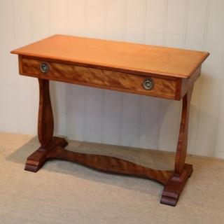 Satinwood Lyre End Table