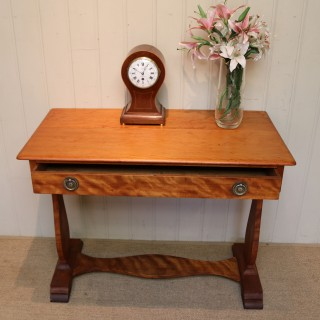 Satinwood Lyre End Table