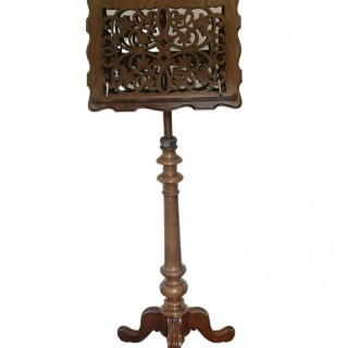 19TH CENTURY ENGLISH WALNUT MUSIC STAND