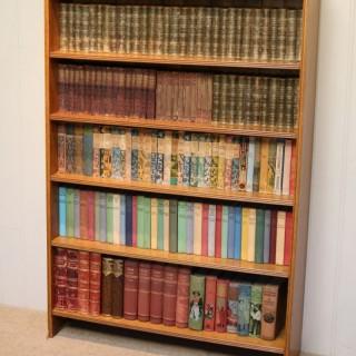 Edwardian Light Oak Open Bookcase