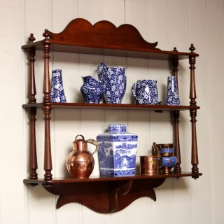 Late 19th Century Mahogany Wall Shelves