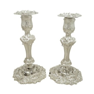Pair of Antique Georgian Sterling Silver 8