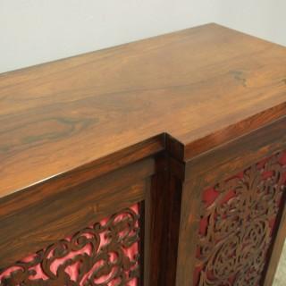 Large George IV Rosewood Side Cabinet