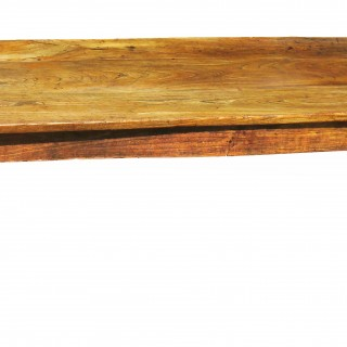 Large 18th Century English Elm Farmhouse Kitchen Dining Table (England, Circa 1760)