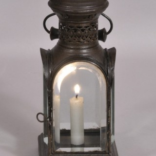 Antique 19th Century Tin Candle Lantern