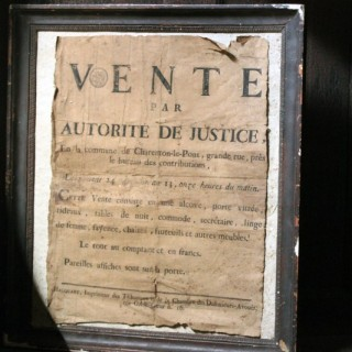 A French Empire Period Napoleonic Notice of a Parisian House Clearance c.1805