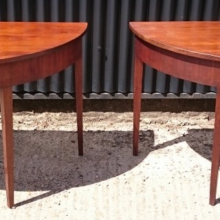 Pair of 18th Century Demi Lune Tables