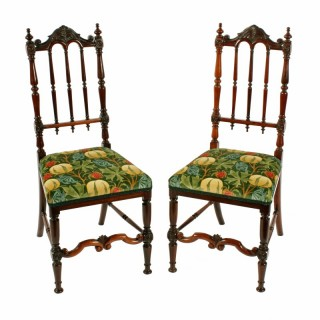 Fine Pair of Victorian Rosewood Chairs