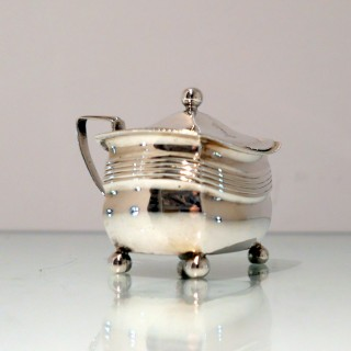 Antique George III Sterling Silver Mustard Pot London 1809 Alice & George Burrows