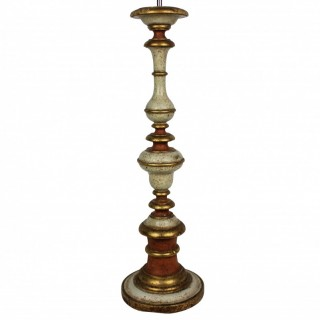 ITALIAN PAINTED & GILDED LAMP