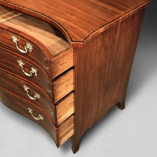 George III Mahogany Serpentine Chest of Drawers