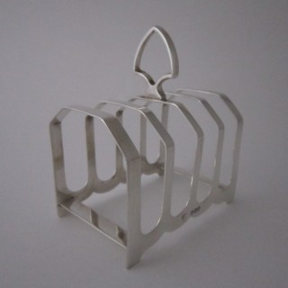 Antique George V Sterling silver toast rack