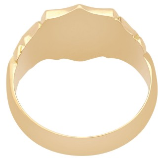 9 ct Yellow Gold Signet Ring - Antique 1915
