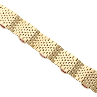 3ct Ruby and 9 ct Yellow Gold Bracelet - Vintage 1959