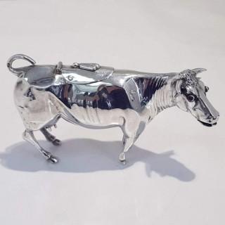 Antique Silver Cow Creamer