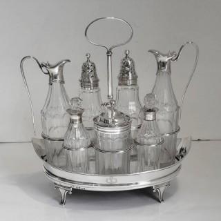 George III Silver Cruet