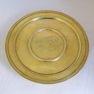 Charles II Gilt Silver Salver On Foot