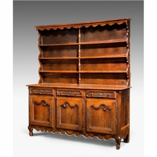 18th Century Chestnut Dresser and Rack