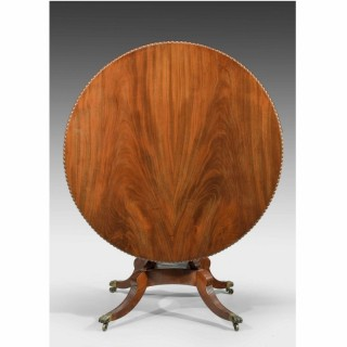 A Regency Period Mahogany Circular Table