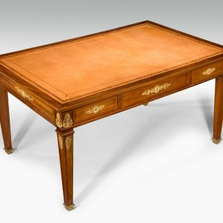 A late 19th Century French Mahogany Library Writing Table