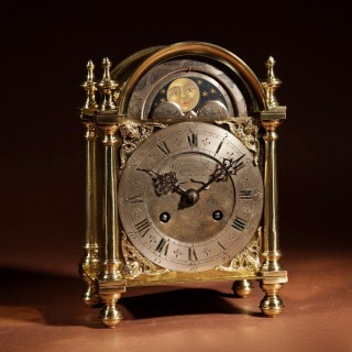 A Very Unusual Brass Dutch Mantel Clock Circa 1900.