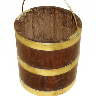 Georgian Mahogany & Brass Bound Bucket