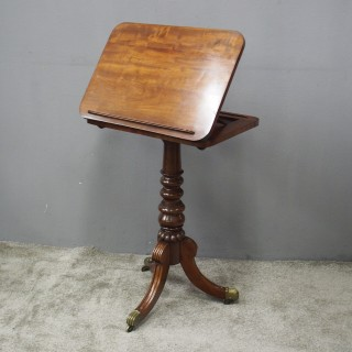 George IV Mahogany Reading Table / Music Stand