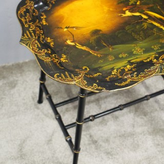 Victorian Papier Mache Tray on Stand
