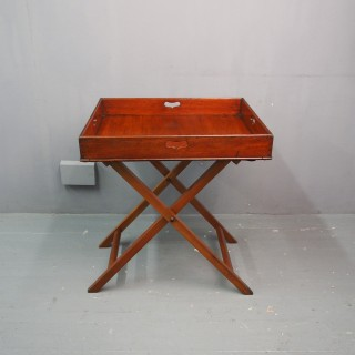 Victorian Mahogany Butlers Tray and Stand