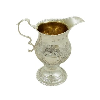 Antique Georgian Sterling Silver Cream Jug 1781