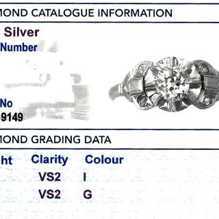 0.72 ct Diamond and Platinum Solitaire Ring - Antique Circa 1910