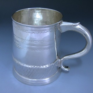 Antique Britannia Standard Silver Queen Anne Mug made in 1704