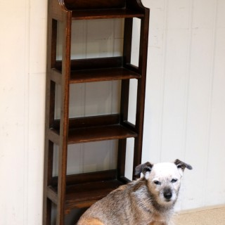 Small Oak Open Bookcase