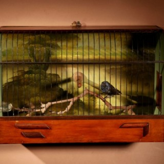 A Rare And Very Nice Mahogany Dutch Bird Cage, End of The 19th. century